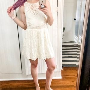 Urban outfitters lace fit flare skater dress *